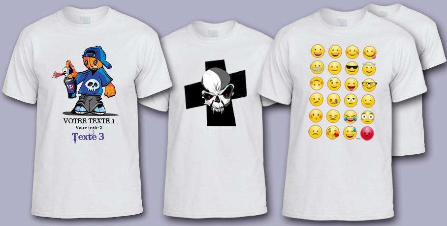 Impression de t-shirt blanc en Sublimation
